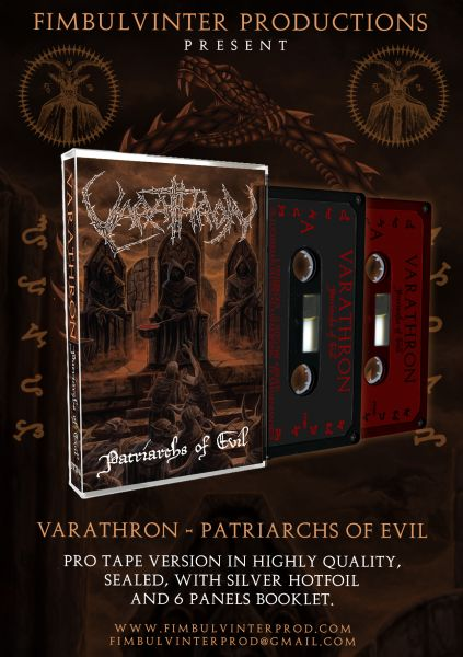 VARATHRON - Patriarchs of Evil Protape RED TAPE
